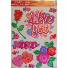 Stickervel Valentijn hartjes