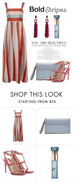 """""""Bold Stripes"""" by conch-lady ❤ liked on Polyvore featuring RED Valentino, Valentino, Bulgari, Oscar de la Renta and BoldStripes"""