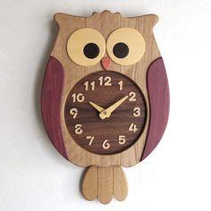Owl pendulum clock Pinned by www.myowlbarn.com