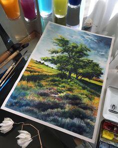 Watercolorist: @adempotas  #waterblog #акварель #aquarelle #drawing #art #artist #artwork #painting #illustration #watercolor #aquarela