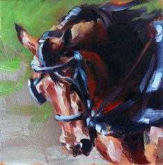 Weekly Painting Project: Morgan Horse by Kindrie Grove. #art #painting #oilpainting #animals  #horses #horse