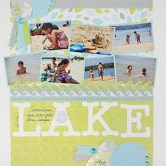 At the Lake #Scrapbooking Layout from Creative Memories http://www.creativememories.com