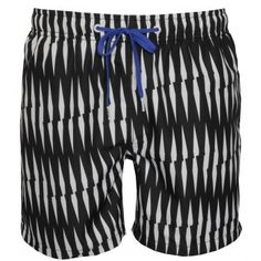 c4d0da21fc31c Bjorn Borg Criss-Cross Stripe Loose-Fit Swim Shorts, Black/White