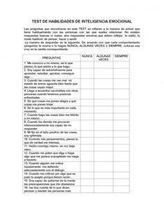 TEST DE HABILIDADES E INTELIGENCIA EMOCIONAL
