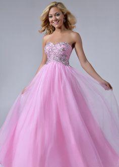 Light Pink Ball Gown Floor-Length Sleeveless Prom Dress 002 | PINK ...