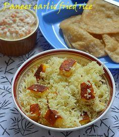How to make Paneer garlic fried rice - easy paneer recipes- Easy Indian rice varieties