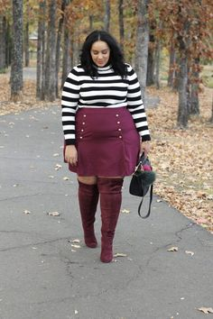 looks plus size outfit fashion ideas for women Curvy Outfits, Mode Outfits, Fashion Outfits, Womens Fashion, Fashion Trends, Fashion Ideas, Fall Outfits, Fashion Boots, Fashion 2018