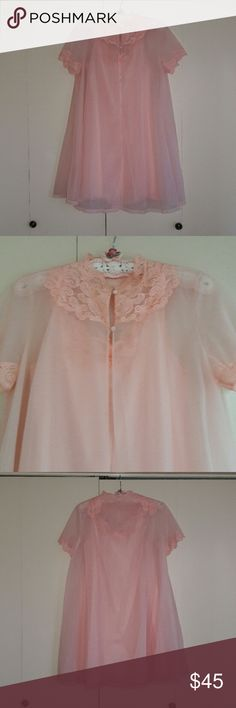 Adorable! True Vintage Pink! Nightie and robe A must have for any retro gal! Darling pink nightie set! Good condition! 50's Vanity Fair size small but could fit medium as well! This set is too Sweet! Perfect for the pretty pin up gal! Vanity Fair Intimates & Sleepwear Chemises & Slips