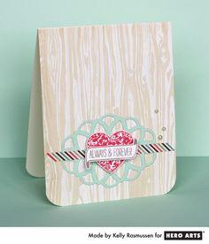 A soft & sweet card by Kelly Rasmussen