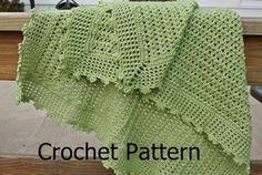 Crochet Pattern Baby Blanket pattern lightweight lacy shell picot, via spinningsheep on #Etsy.