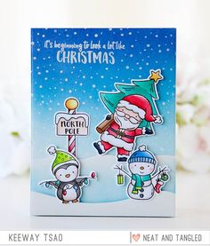 Santa's Wonderland Transparent Clear Silicone Stamp Set for DIY Scrapbooking/Photo Album Card Making Decorative Clear Stamps Christmas Cards To Make, Christmas Tag, Xmas Cards, Handmade Christmas, Holiday Cards, Christmas Gingerbread, Diy Scrapbook, Scrapbooking, Winter Karten