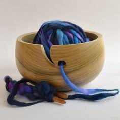 Tulip Wood Yarn Bowl