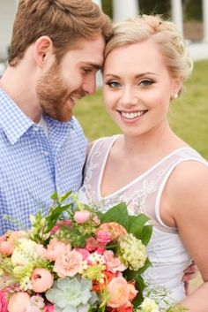 Bridal Portraits and Bouquet with Succulents | Colorful Southern Wedding Inspiration at Generals Ridge Vineyard | Abby Hudson Photography