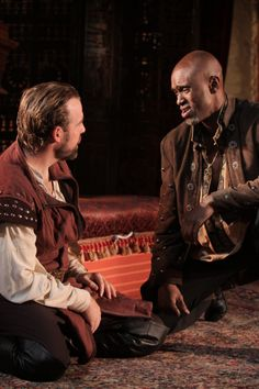 Owiso Odera (Othello) and Ian Merrill Peakes (Iago), Othello, directed by Robert Richmond, Folger Theatre, 2011. Folger Shakespeare Library.