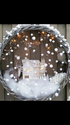 Doe eens iets anders met de kerstboom mand  !!      Doe eens iets anders met de kerstboom mand,  hang hem aan de muur Christmas Door, Diy Christmas Ornaments, Christmas Design, Rustic Christmas, Christmas Projects, Christmas Holidays, Christmas Wreaths, Deco Table Noel, Christmas Inspiration