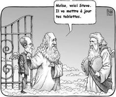 Funny pictures about Steve Jobs goes to heaven. Oh, and cool pics about Steve Jobs goes to heaven. Also, Steve Jobs goes to heaven photos. Humor Religioso, Funny Humor, Nerd Humor, Hilarious Memes, Humor Cristiano, Johann Wolfgang Von Goethe, Moise, Christian Humor, Friday Humor
