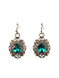 Armitage Avenue Emerald And Pearl Beaded Earrings- $17
