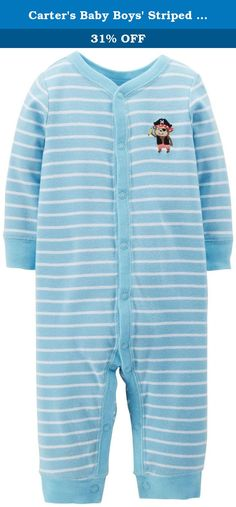 Carters Baby Boys Striped Romper (Baby) - Pirate - Newborn. Carters Striped Romper (Baby) - Pirate Carters is the leading brand of childrens clothing, gifts and accessories in America, selling more than 10 products for every child born in the U.S. Their designs are based on a heritage of quality and innovation that has earned them the trust of generations of families. Features: 100% Cotton.