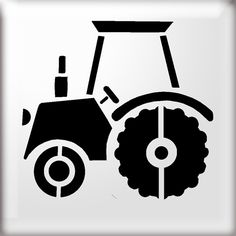 Tractor Silhouette Clipart Free Clip Art Images - Clipart Suggest Laser Cut Stencils, Large Stencils, Stencil Diy, Stenciling, Tractor Silhouette, Banksy Stencil, Afro, Animal Stencil, Stencil Patterns