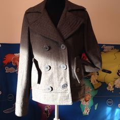 Sale delia's Gray Light Jacket In good shape. Size large true to size. Short about waist length and it's light weight not a really heavy jacket. delia's Jackets & Coats