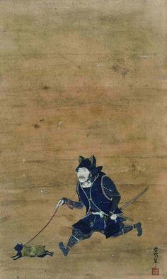 SAMURAI with a cat. 野口哲哉作「着甲武人猫散歩逍遥図」 野口哲哉ノ作品集 「侍達ノ居ル処。」Link: http://www.amazon.co.jp/dp/4861524296