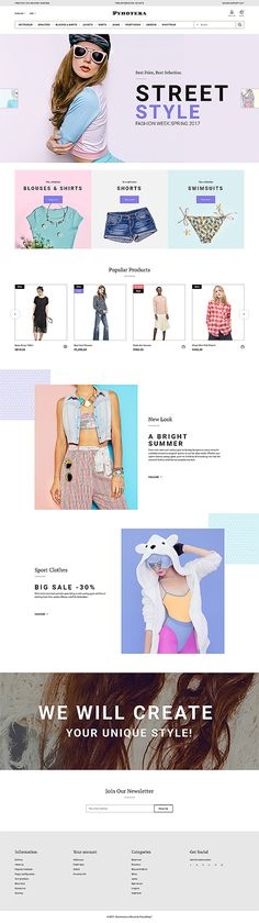 Women's Clothing Online Store #Prestashop #template. #themes #business #responsive #webshop #Prestashopthemes