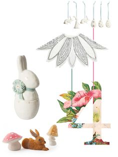 A few new Spring arrivals and some classic seasonal pieces I love.  1. Easter bunny & egg ornaments to hang here.   2. A...