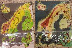 4.luokkalaisten tekemät lautapelit Pohjoismaat ja Baltian maat jaksosta.