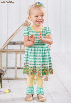 The Adventure Begins, Spring 2017: Field of Daisies Dress, Magic Word Leggings and Heritage Rose Headband