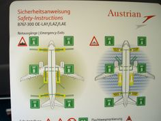 Austrian Airlines B767-300 Safety Card | Flickr - Photo Sharing!