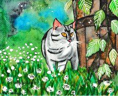 @fairychamber posted to Instagram: Dreams of summer /muistoja kesästä #dreams #cat #catart #catpainting #kissa #kissaihmisiä #harmaakissa #kissamaalaus #cats #catstagram #gatto #catsofinstagram #instacat #meow #kitten #catlover #gatti #catoftheday #cats_of_instagram #neko #lovecats #cat_features #кошка #고양이 #kittens #animal #instagramcats #animals #gato #ilovemycat