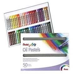 Pentel Oil Pastel Set (Pack of Scarlet, Faber Castell, Creative Studio, Naples, Cardboard Box, Art Pastel, Canson, Artist Pencils, Water Brush