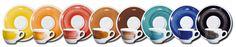 Artigianalità e Colore per la collezione Pennellati a nano, tazze da caffè e piattini personalizzati www.ancap.it