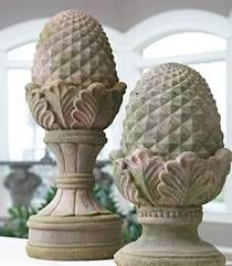 Stone Pineapple Finials