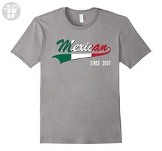 Mens 16th Birthday gift shirt Mexican since 2001 16 years old Small Slate - Birthday shirts (*Amazon Partner-Link)