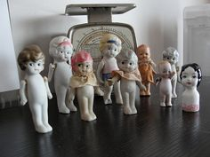 vintage dolls - I used to get these dolls at the 5 & 10 Store! Now they stand in a frame box!