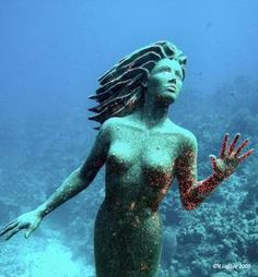 Mermaid under the water-submarine tour on Grand Cayman