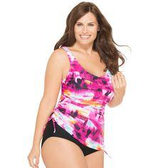 Skyline Tankini Plus Size Swim TOP with Underwire Plus Size Underwire Swimwear, Junior Plus Size Swimwear, Plus Swimwear, Plus Size Swimsuits, Women Swimsuits, Fuchsia, Swim Dress, Swimsuit Tops, All About Fashion