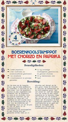 Boerenkoolstamppot met chorizo en paprika - Lidl Nederland