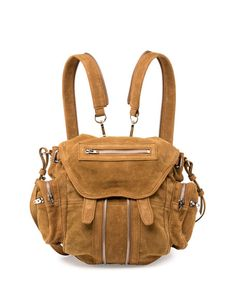 Alexander Wang Marti Mini Nubuck Backpack, Nut