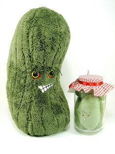 plus pickle pillow on etsy from scrumptiousdelight.  How cute is this!!!