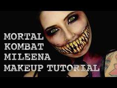 Mileena from Mortal Kombat SFX Makeup Turorial Theme Halloween, Halloween Cosplay, Halloween Make Up, Halloween 2017, Halloween Costumes, Sfx Makeup, Costume Makeup, Creepy Makeup, Amazing Halloween Makeup