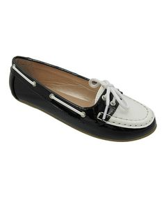 Take a look at this Black & White Abbie Loafer by Yokids on #zulily today!