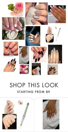 """""""More Nails"""" by mikahelaine ❤ liked on Polyvore featuring beauty and The Painted Nail"""