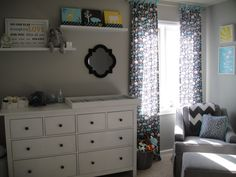 Baby boy nursery in gray, blue & yellow.this is exactly what i want!! love love love it