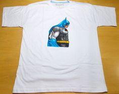 Camiseta Pintada à Mão Batman