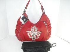 Red Miss Me Handbags | Do You Miss Me Hobo Crimson Red Handbag Embellished ... | Red Handbags