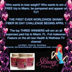 To enter the competition you must purchase either the buy 2 get 1 free or buy 3 get 3 free $59.95 USD a bottle 90 day money back guarantee www.tinkerbeel.sbcspecial.com