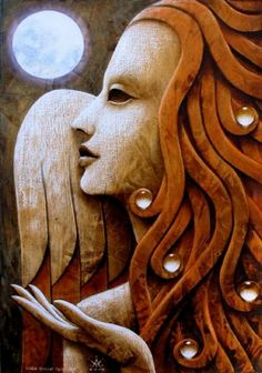 My Beautiful Angel ~ I'm so glad you were a part of my life ღ I love and miss you so very much. (by Matteo Arfanotti) Angels Touch, I Believe In Angels, Angels Among Us, Angel Art, Moon Art, Gravure, Religious Art, Cherub, Wood Carving