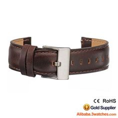 Brown Genuine leather Watches Strap 3W-S-L14, click picture to designs your own brand watch.